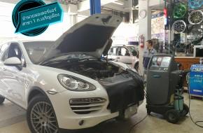 #Porsche Cayenne ไล่ระบบแอร์ใหม่ทั้งคัน