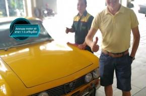 MR.Hendrik Vanbelle ที่ไว้วางใจให้ดูแลรถคันโปรด Classic car #Alfa Romeo 1972 แก้ปัญหา#เครื่องยนต์เดินไม่เรียบ และติดตั้งแอร์ใหม่สู้กับอากาศร้อนเมืองไทย